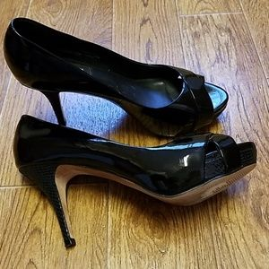 WHBM open toe pumps Size 7 1/2M